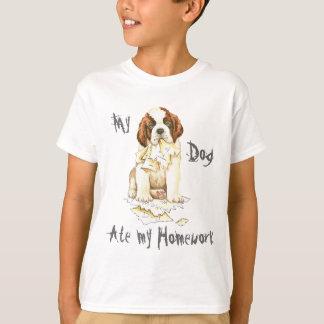 My Saint Bernard Ate My Homework T-Shirt