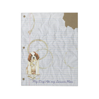 My Saint Bernard Ate My Lesson Plan Notepad