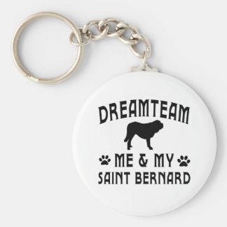 My Saint Bernard Dog Keychain