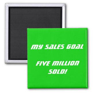 My Sales Goal Customizable Magnet