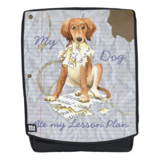 My Saluki Ate my Lesson Plan Backpack