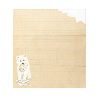 My Samoyed Ate my Homework Notepad