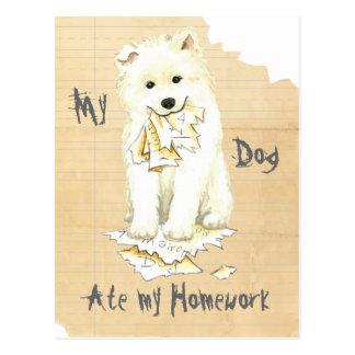My Samoyed Ate my Homework Postcard