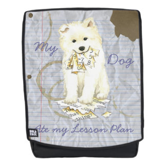My Samoyed Ate my Lesson Plan Backpack