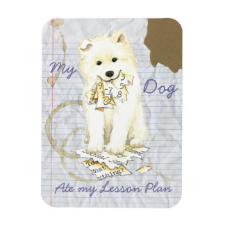 My Samoyed Ate My Lesson Plan Magnet