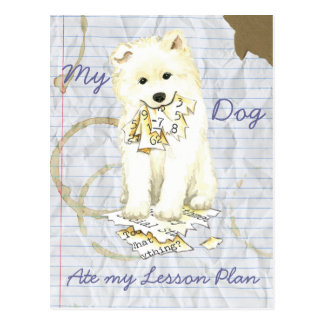 My Samoyed Ate My Lesson Plan Postcard