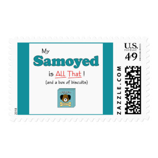 My Samoyed is All That! Postage Stamps