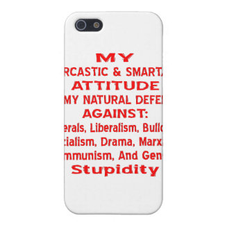 My Sarcastic & Smartass Attitude Is My Natural Case For iPhone SE/5/5s
