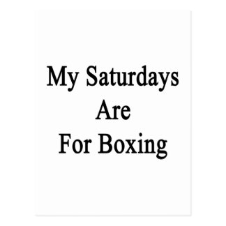 My Saturdays Are For Boxing Postcard