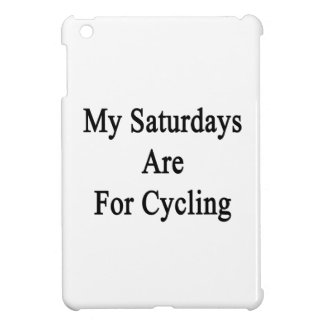 My Saturdays Are For Cycling iPad Mini Covers