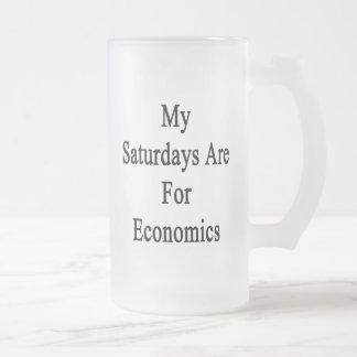 My Saturdays Are For Economics Beer Mugs