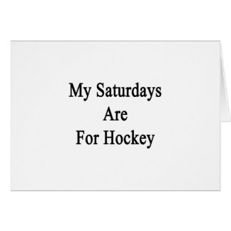 My Saturdays Are For Hockey Cards
