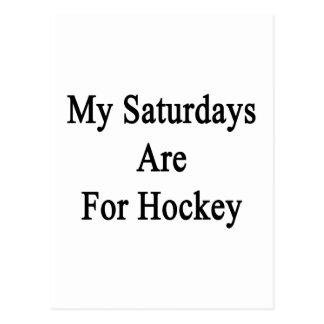 My Saturdays Are For Hockey Postcard