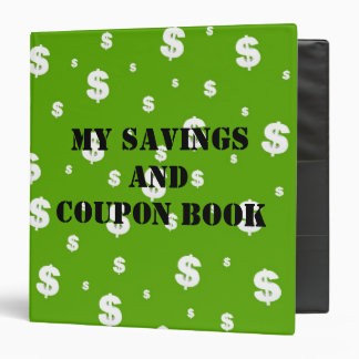 My Savings and Coupon Book Binder