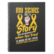 My scars tell a story Endometriosis Notebook