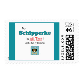 My Schipperke is All That Postage Stamps