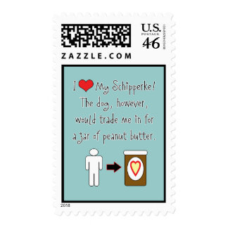 My Schipperke Loves Peanut Butter Stamp