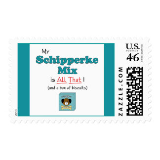 My Schipperke Mix is All That Postage Stamps