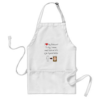 My Schnauzer Loves Peanut Butter Adult Apron