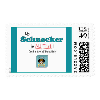 My Schnocker is All That! Postage Stamps