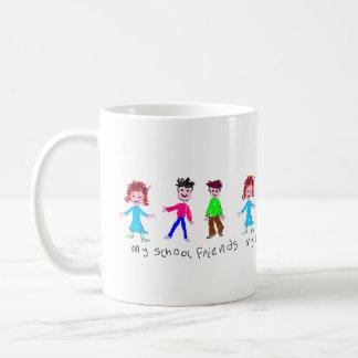 My School Friends - Child's Drawing Coffee Mug