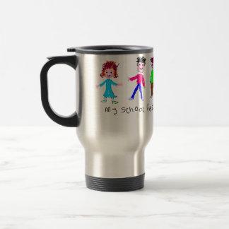 My School Friends - Child's Drawing Travel Mug