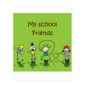 My School Friends Postcard