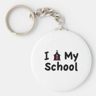 My School Basic Round Button Keychain