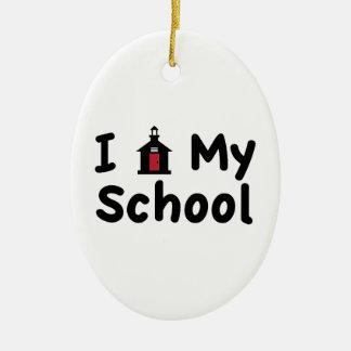 My School Ceramic Oval Ornament