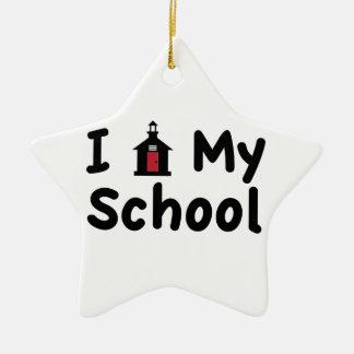 My School Ceramic Star Ornament
