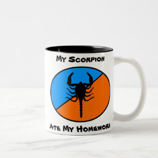 My Scorpion Ate My Homework! Two-Tone Coffee Mug