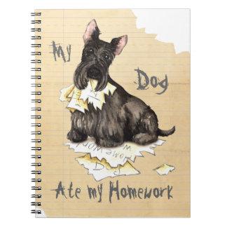 My Scottie Ate My Homework Spiral Notebook