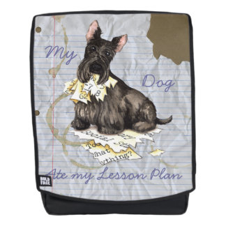 My Scottie Ate My Lesson Plan Backpack