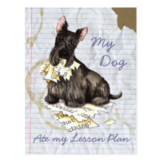 My Scottie Ate My Lesson Plan Post Cards