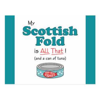 My Scottish Fold is All That! Funny Kitty Post Cards