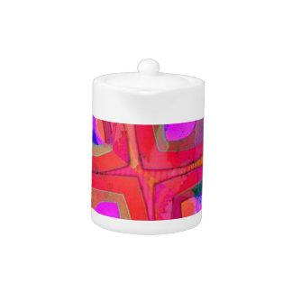 My screaming  pink heart teapot