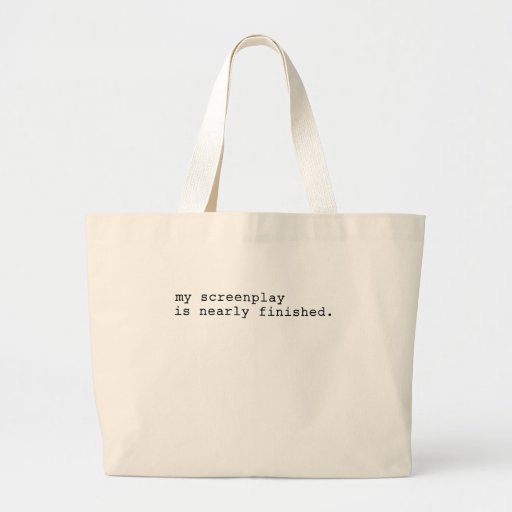 my screenplay canvas bag