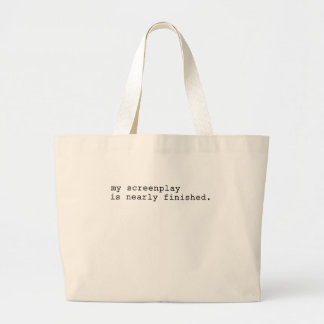my screenplay large tote bag