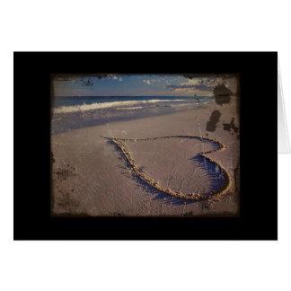 My Scruffy Heart on the Beach Card