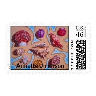 My Sea Shell Collection Postage Stamp