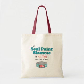 My Seal Point Siamese is All That! Funny Kitty Budget Tote Bag