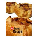 My Secret Recipe Card - Apple Galette  Postcard