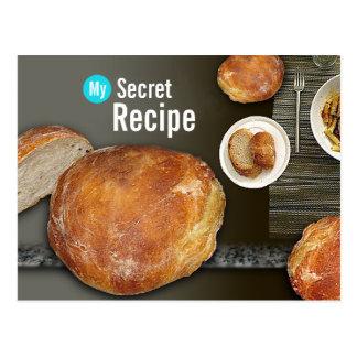 My Secret Recipe Card - French Boule  Postcard