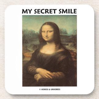 My Secret Smile (da Vinci's Mona Lisa) Coasters