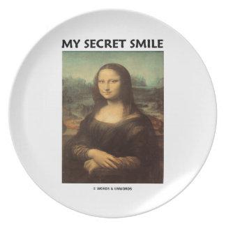 My Secret Smile (da Vinci's Mona Lisa) Dinner Plate