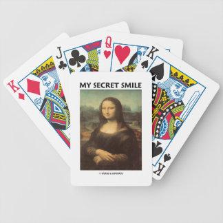 My Secret Smile (da Vinci's Mona Lisa) Bicycle Playing Cards