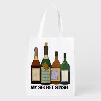 My Secret Stash - Wine - Reusable Bag Reusable Grocery Bags