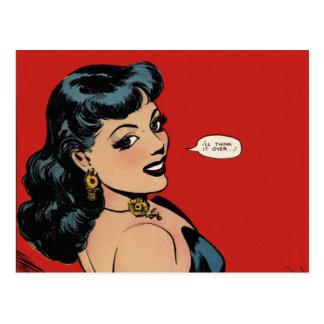 My Secret Story 27 Vintage Comic Good Girl Art Postcard