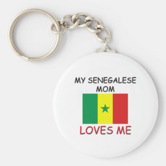 My Senegalese Mom Loves Me Keychains
