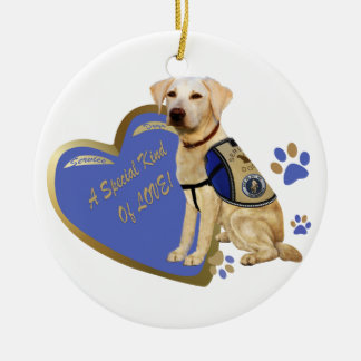 My Service Dog A Special Kind Of Love Lab Christmas Ornament